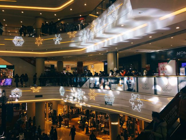 Large Group Of People Illuminated Indoors  High Angle View Architecture Crowd Customer  Real People People Leisure Activity EyeEm Ready   AI Now EyeEmNewHere