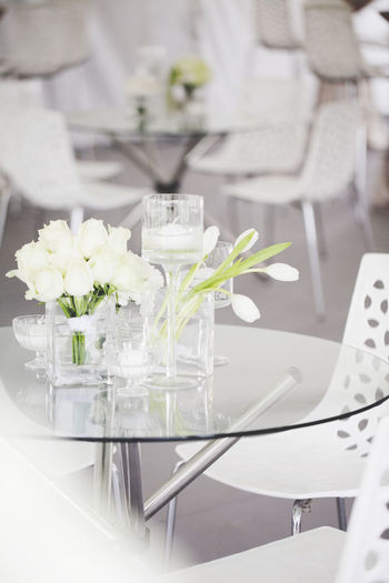 Chair Decor Decoration Flowers Flowers,Plants & Garden Glass Pretty Table Tulips Wedding Wedding Photography White