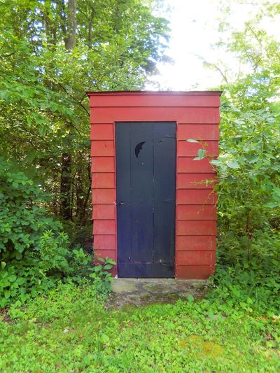 Architecture Black Door Built Structure Door Green Color In The Woods Outdoors Outhouse Plant Red Rural Landscape The Secret Spaces Rural America Pennsylvania Landscape Landscape Nature Photography Breathing Space