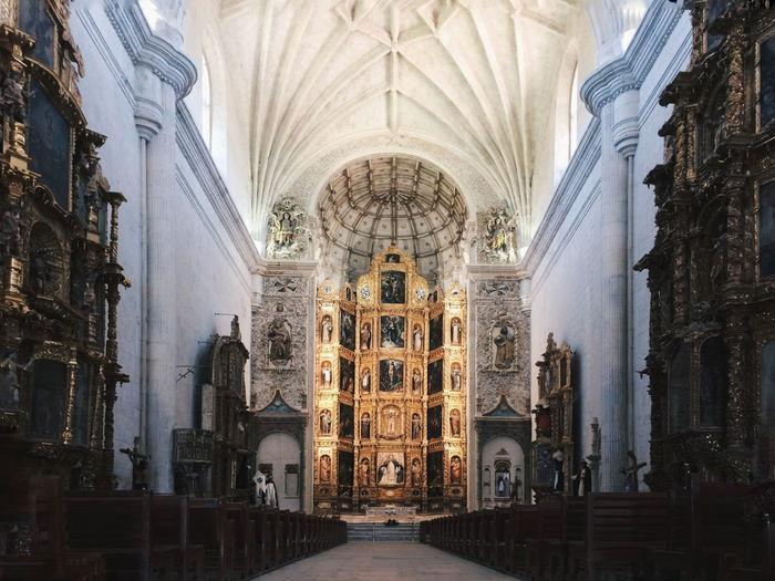 Panoramic view of church