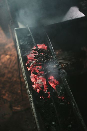 Close-Up View Of Barbecue Grill