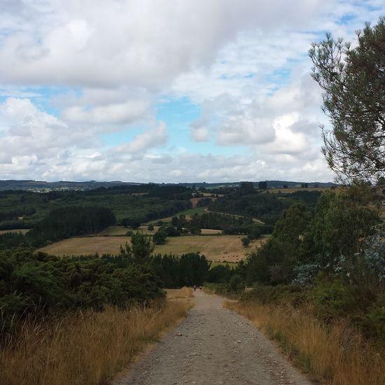 Walking The Camino. SPAIN CaminodeSantiago Hiking Adventures Enjoying Life Yellowarrow Clouds And Sky Travling Backpacking Pilgrimage