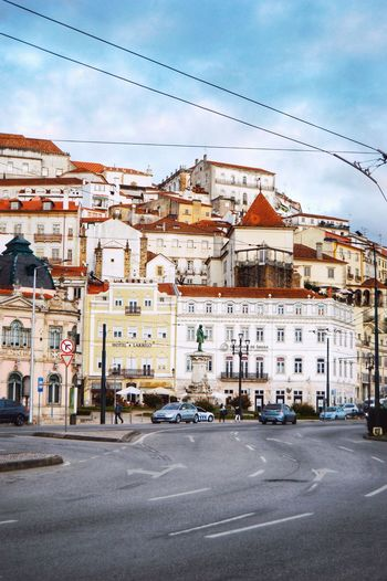 Portugal Coimbra Old Town City Town Life Architecture Sky Cloud - Sky City Building Exterior Built Structure Street Building Day Transportation Road
