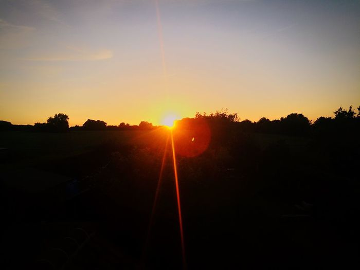Sun Sunset Landscape Scerene Scerenity Photo