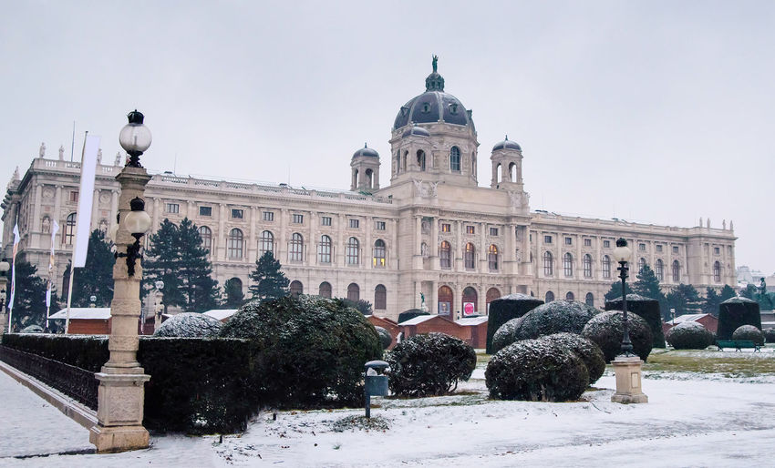 Vienna Hofburg - Imperial Palace, Austria, misty morning Building Exterior Architecture Built Structure Sky Snow Cold Temperature Nature Building Dome Winter City Day Travel Destinations The Past History Travel Religion Spirituality Belief Outdoors Austria Vienna Hofburg