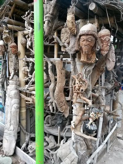 Statues Cultures Day Human Representation Outdoors Sculpture Statue Wood - Material Workmanship