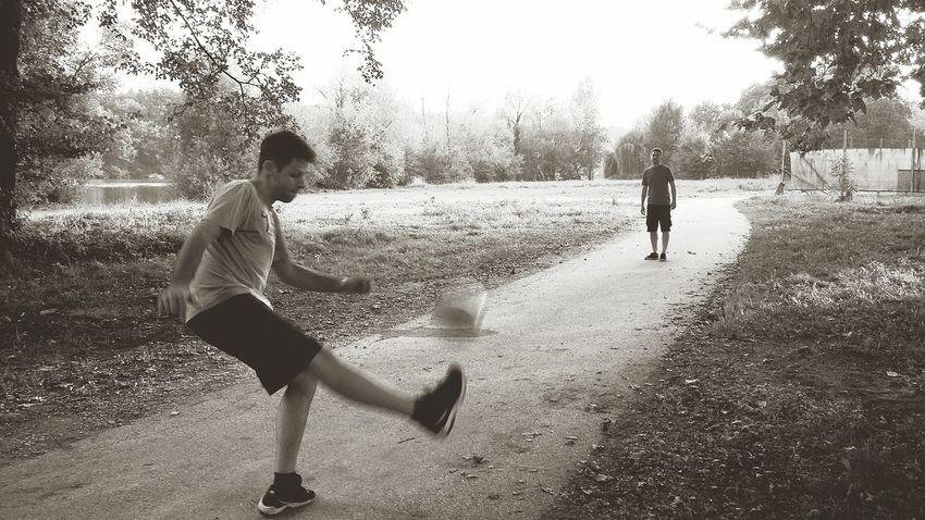 Football Lifestyles Playing Kick