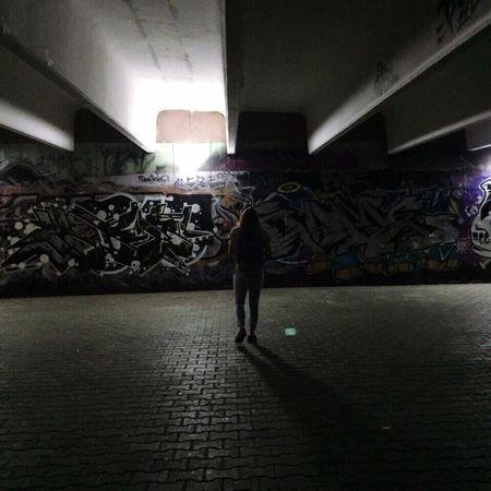 Night Walk Street Wall