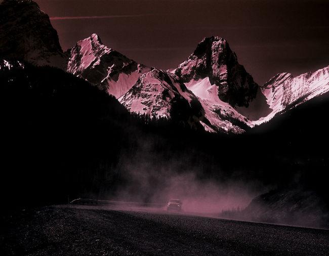 dusty roads are beckoning! Beauty In Nature Canada Coast To Coast Canadian Rockies  Car Drastic Edit Dusty Roads Landscape Mountain Mountain Addict Mountain Range Nature Outdoors Road Scenics Snow Travel Destinations