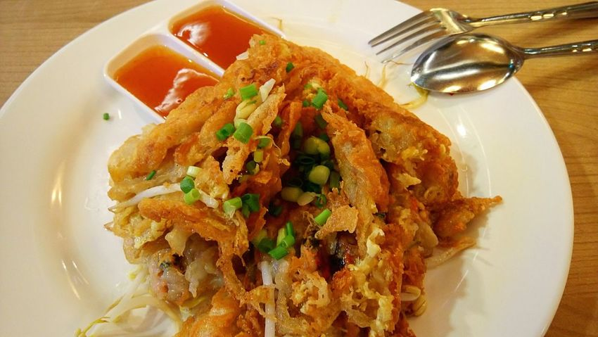Food Plate Ready-to-eat Freshness Serving Size Healthy Eating Meal Gourmet Spring Onion High Angle View Food Of The Day Fried Mussels