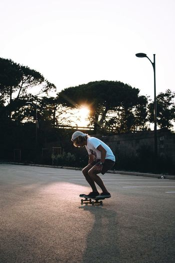 EyeEmNewHere Skate Skateboarding Street Light Sport Outdoors Healthy Lifestyle Lifestyles Agility Sportsman Golden Hour Exercising