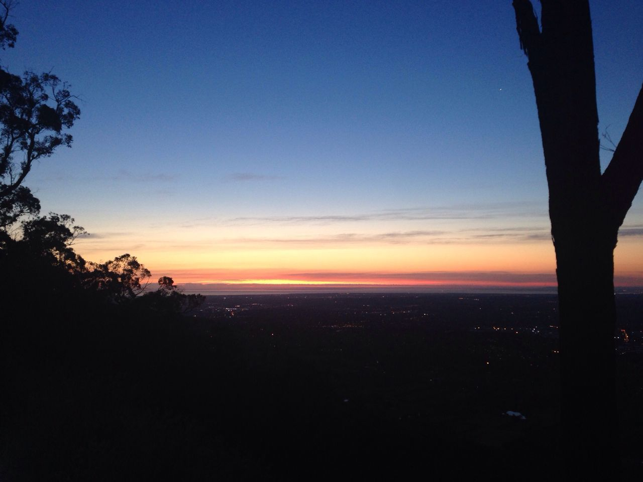 sunset, silhouette, nature, tranquil scene, sky, beauty in nature, scenics, tranquility, tree, outdoors, landscape, no people, day