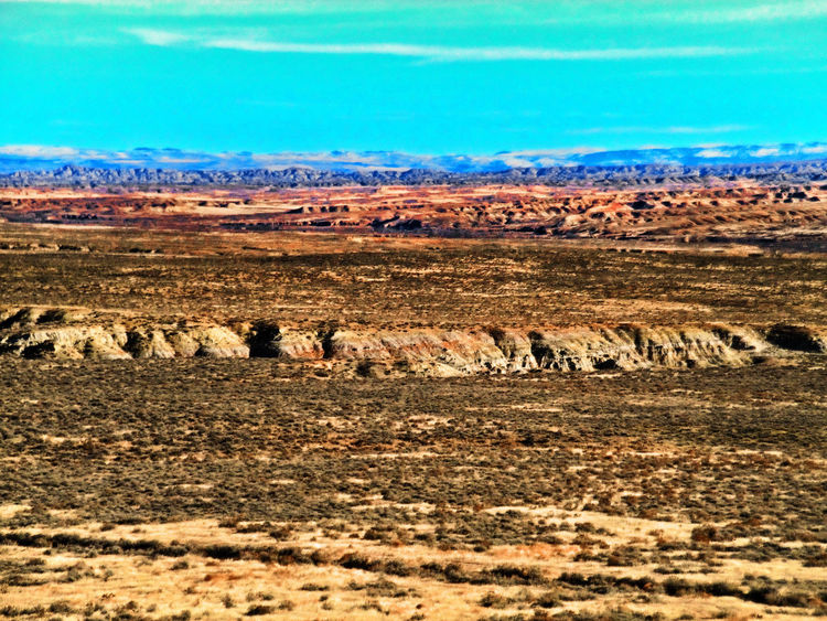 Arid Climate Badlands Geology Horizon Over Land Landscape Nature Non-urban Scene Outdoors Remote Solitude Tranquil Scene Tranquility Worland Worland WY Wyoming
