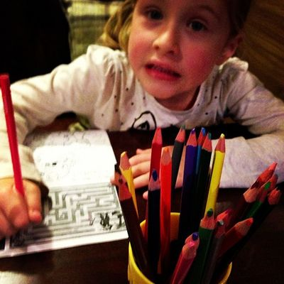 There is no classier restaurant than one with colouring in.