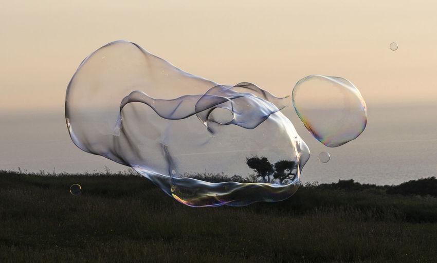 Digital composite image of bubbles