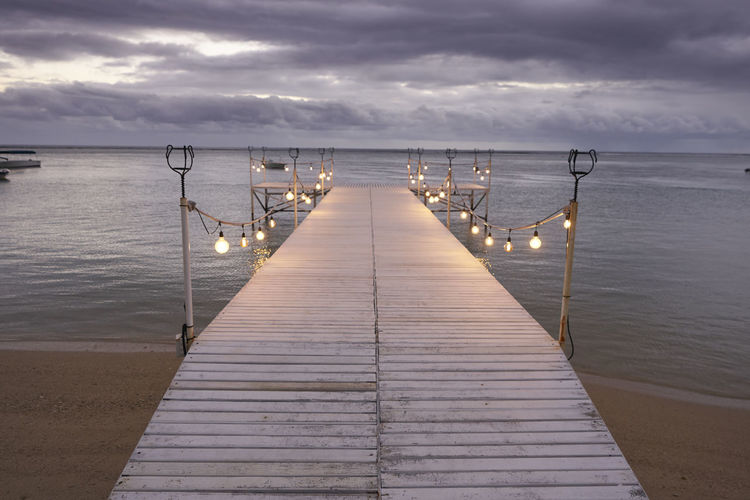 Beauty In Nature Cloud - Sky Diminishing Perspective Direction Horizon Horizon Over Water Idyllic Jetty Long Nature No People Outdoors Pier Scenics - Nature Sea Sky The Way Forward Tranquil Scene Tranquility Water Wood - Material Wood Paneling