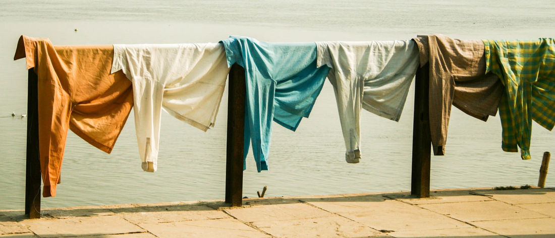 Blue Chores Clothesline Colorful Colors Colour Of Life Drying Hanging Incredible India India Indian Laundry Laundry Laundry Day No People Orange Outdoors River Riverbank Riverside Shirt Travel Travel Photography Travelphotography Varanasi