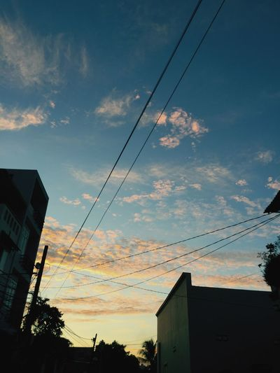 Sky Cloud - Sky Outdoors City Sunset