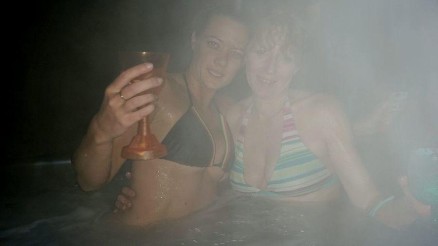 New years 2014... skull cups.. Me NewYrsz' Pixsz'  Hot Tubbin Cheers Mate Friendship