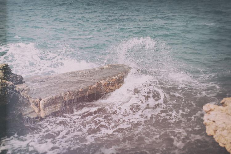 Blackandwhite Bluesea Malaysia Mellieha Outdoors Relaxedday Rock Rock Roughsea Sea Shore Splash Splashing Vacation Water Waterfront Wave Wave