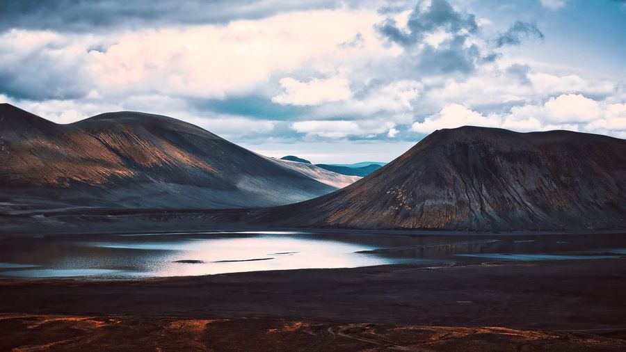 The Highlands. EyeEm Best Shots EyeEm Nature Lover Highlands Iceland Cloud - Sky Sky Mountain Water Beauty In Nature Scenics - Nature Tranquil Scene Mountain Range Nature No People Non-urban Scene Outdoors Lake Idyllic Land Tranquility