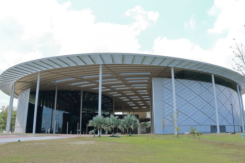 The Chancellor Hall of University Teknologi Petronas in Tronoh, Perak, Malaysia Perak University Campus Architecture Built Structure Chancellor Hall Day Tronoh Universiti Teknologi Petronas