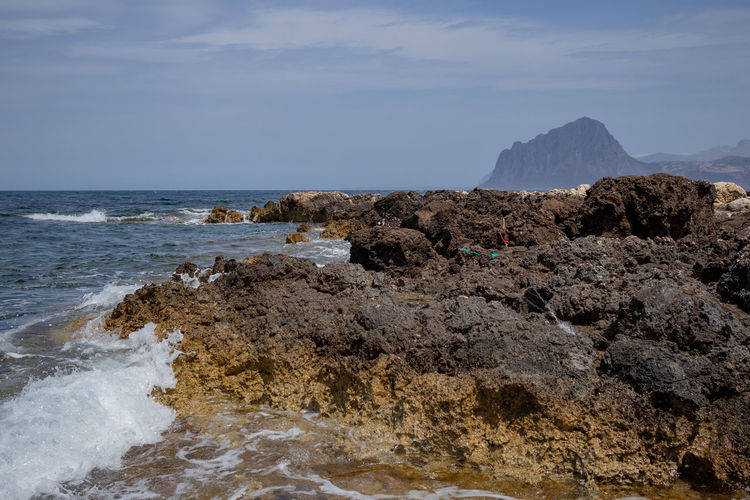 Sicily, coast rocks Coastline Rocky Beach Aquatic Life Italy Panoramic Photography Rocks And Water Sea View Waterfront Waterfrontview Wave Hitting Shore Waves