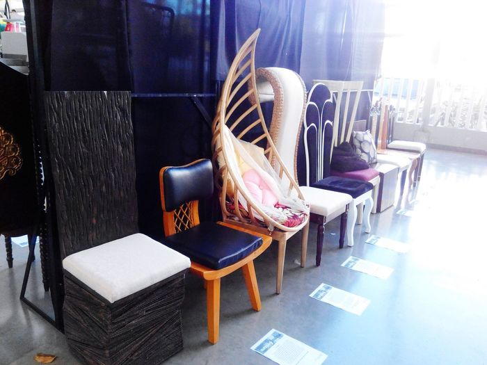 Chairs design by interior design student