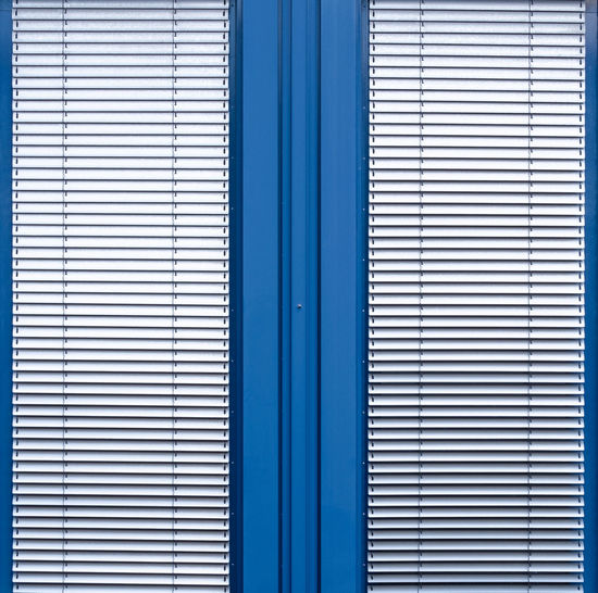 Blue No People Full Frame Pattern Backgrounds Security Architecture Protection Built Structure Door Curtain Closed Safety