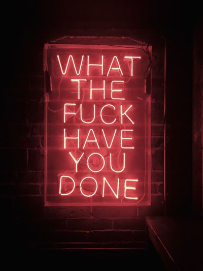Illuminated Text Western Script No People Neon Communication Night Glowing Lighting Equipment Capital Letter Indoors  Close-up Sign Architecture Electricity  Wall - Building Feature Light Creativity Art And Craft Red Capture Tomorrow 2018 In One Photograph