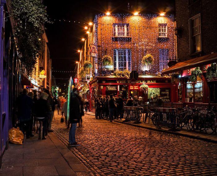 Temple Square Dublin Eire Ireland Ireland🍀 Night Lights Night Life