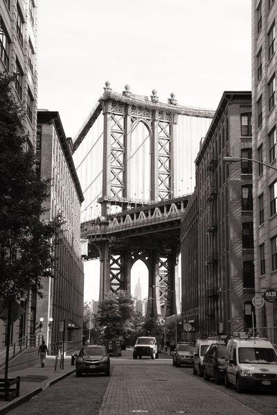 Dumbo. Manhattan Bridge Street Black And White Blackandwhite Blackandwhitephotography Bridge Manhattanbridge Streetphoto_bw My City DUMBO