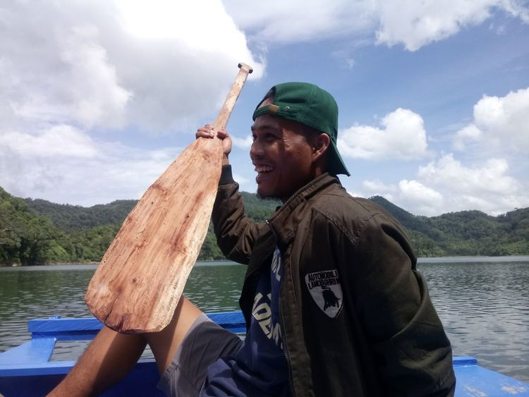 Sailor. Water Baseball Cap Nautical Vessel Mountain Men Lake Smiling Fisherman Oar Cheerful Paddling The Portraitist - 2018 EyeEm Awards