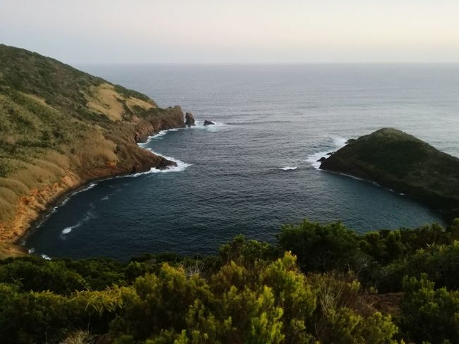 Sea Horizon Over Water Cliff Beauty In Nature Tranquil Scene Outdoors Water Island Azores Faial Island