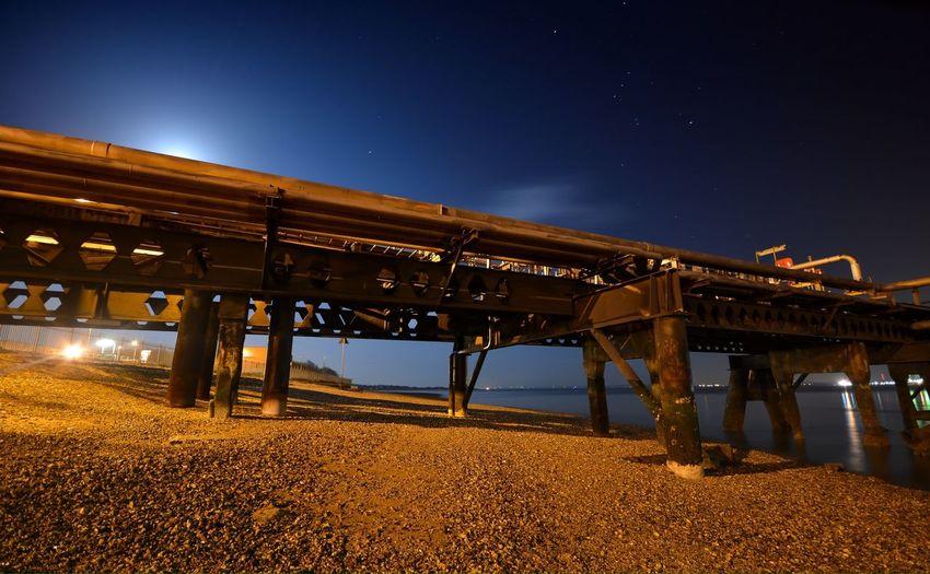 Hamble pier. Slow exposure. Beach Nightphotography Night Sky Stars Slow Shutter