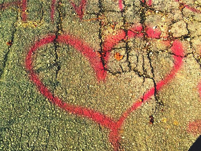 Heart Shape Love Full Frame Outdoors Backgrounds Day No People Red Close-up Graffiti