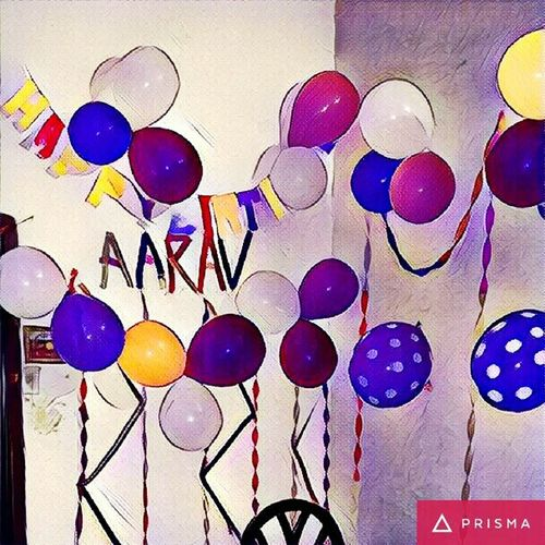 HappyBirthday Son.. Ruling At Family Night. Real People Photography In Motion Ballons🎈🎈🎈 Decorating Prisma App Place Of Heart
