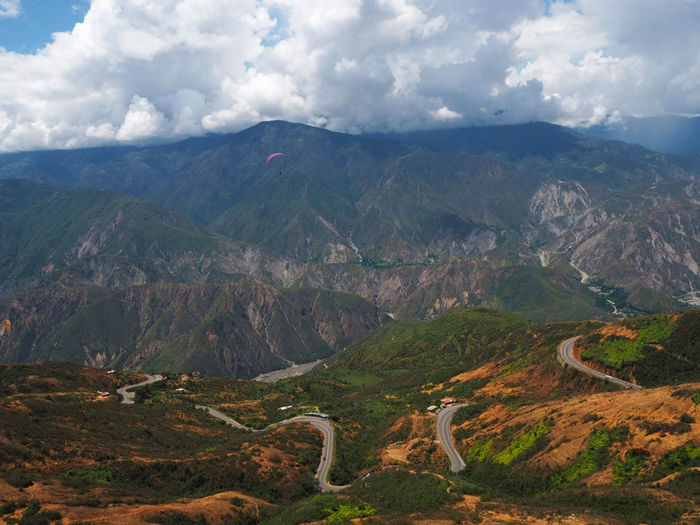 Canyon Chicamocha Cloud - Sky Colombia Dramatic Landscape Geology Landscape Mountain Mountain Peak Mountain Range Nature Outdoors Paragliding Scenics Sky Tourism Tranquil Scene Travel Travel Destinations