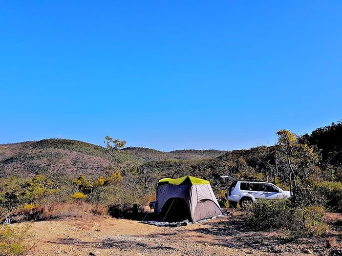 Camping Australia Outdoors No People Clear Sky Nature Day Clear Bright Blue Sky tranquility What A View! Lifestyles Arid Climate Tree Sunlight 4x4 Country Beauty In Nature Tropics On Top Of A Mountain The Week On EyeEm Go Higher