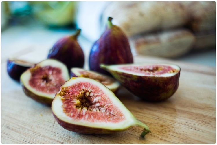 Close-Up Of Figs On Table
