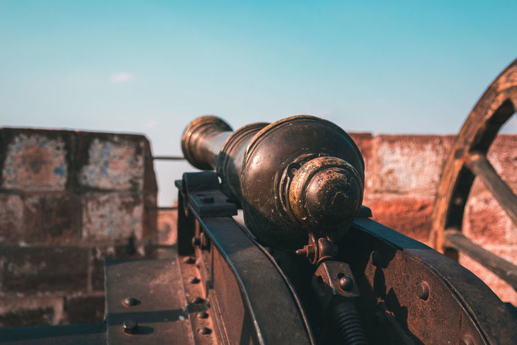 Artillery ... Jodhpur Rajasthan Travel Exploring Weapon Artillery Fort Fortress Defense Attack Rajasthan Ancient Past Technology Abandoned Sky Close-up Archaeology The Past Historic History Historic Building Cannon Ancient Civilization Fortified Wall Old Ruin Castle