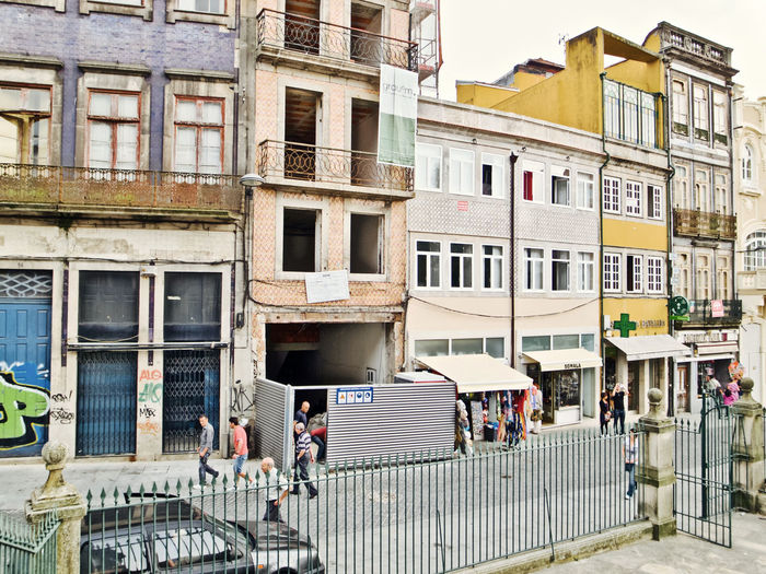 Oporto, Portugal Adult Architecture Building Building Exterior Built Structure City Day Group Of People Incidental People Lifestyles Men Nature Outdoors People Real People Residential District Street Transportation Window Women