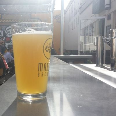 Beautiful Marblebrewery Doublewhite on a hot day