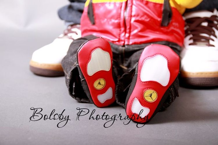 Baby shoes Small Packages Taking Photos