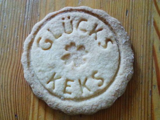 """My Recipes Kekse mit """"Glückskeks""""-Stempel. Cookie with """"fortune cookie"""""""