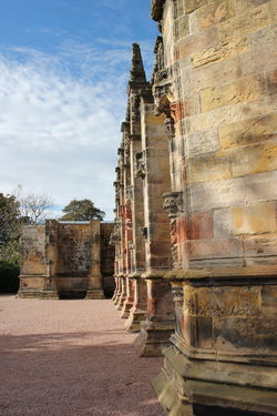 Ancient Ancient Civilization Ancient History Archaeology Architecture Building Exterior Built Structure Cloud - Sky Cultures Day Edinburgh History No People Old Ruin Outdoors Place Of Worship Religion Rosslyn Chapel Scotland Sky Travel Destinations Tree