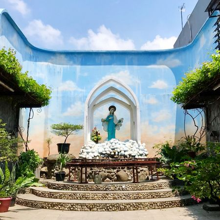 Goa Maria St. Bartolomeus Catholic Arcitecture Maria Cloud - Sky Architecture Built Structure Sky Day Statue Building Exterior Sculpture No People