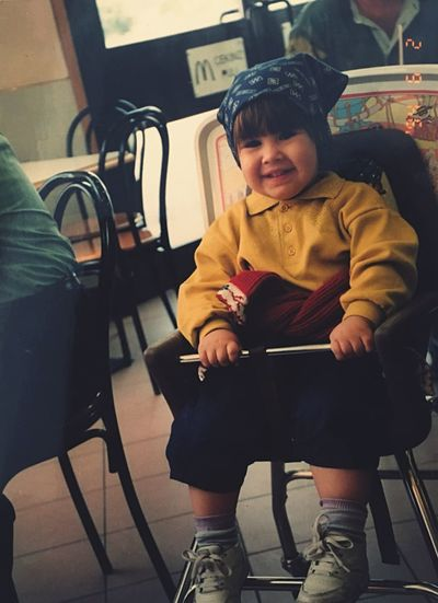 Childhood Child Me When I Was Little Mcdonalds Happiness Sitting Lifestyles Real People One Person Cute Leisure Activity Smiling Day Warm Clothing EyeEm Best Shots EyeEm Gallery