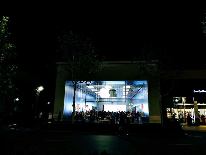 Apple Store Nightlife City Music Built Structure Architecture