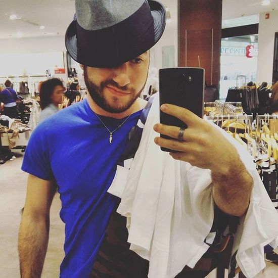 Doing a Little Shopping 👖👕👔😊! Gayfrench Fun Cute Fashion Blue